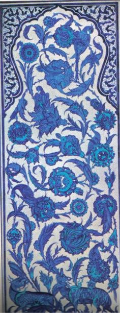 Amazing Iznik tile Turkish Design, Turkish Art, Islamic Tiles, Islamic Art, Antique Tiles, Decorative Tile, Tile Patterns, Ancient Art, Art And Architecture