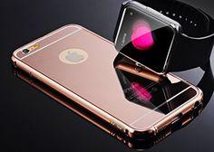 iPhone 6 Plus Rose Gold Mirror Case, Umiko(TM) Luxury Anti-scratch Ultra thin Mirror Metal Aluminum Frame Case iPhone 6 Plus - Rose Gold Umiko http://smile.amazon.com/dp/B00W3GIUYM/ref=cm_sw_r_pi_dp_yo1Jvb1D7VNQN