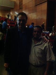 Con un gran periodista deportivo... David Failterson