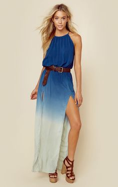 2 SLIT HALTER DRESS | @ShopPlanetBlue