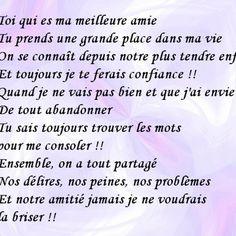 Pour Ma Meilleure Amie Camille Des Mots Pour Les Maux