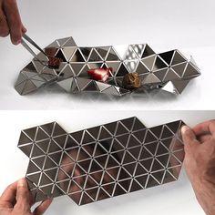 Fancy - Facetat Serving Dish by Andreu Carulla Tole Pliée, Folding Architecture, Sheet Metal, Serving Dishes, Food Design, Geometric Shapes, Metal Art, Metal Working, 3d Printing