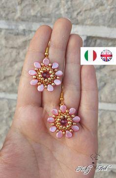 Earrings Little Flower beading pattern