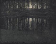 Edward Steichen. 'Moonlight The Pond' 1906  Edward Steichen really helped turn photography into a legitimate art form. His pictures vary from the great clarity and realism that film can provide to images that look like paintings.