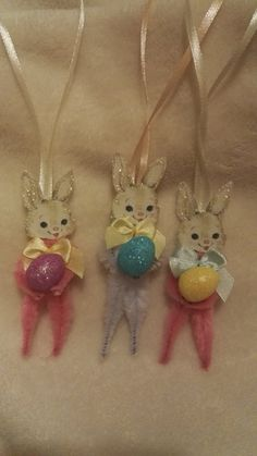 Easter Decorations Vintage Style Chenille By Miabirdcreations