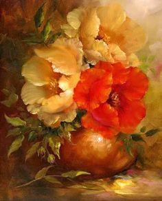 Pinturas Cuadros Pinturas Al Oleo De Flores Gary Jenkins Nueva                                                                                                                                                      Más