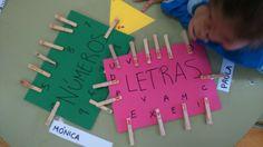 Distinguimos entre números y letras.