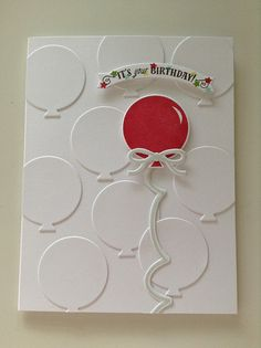 PTI Make It Monday #209: White On White Die Cuts With A Pop Of Color | Flickr - Photo Sharing!