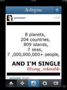 And I'm Single...