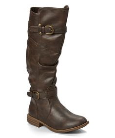 Love this Shoes of Soul Brown Double-Buckle Boot by Shoes of Soul on #zulily! #zulilyfinds