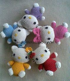 Zan Crochet: Hello Kitty Amigurumi - free crochet pattern by Zan Merry. Crochet Patterns Amigurumi, Amigurumi Doll, Crochet Dolls, Cute Crochet, Crochet For Kids, Crochet Baby, Doll Patterns Free, Baby Patterns, Free Pattern