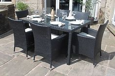 Richmond Black All Weather Synthetic Outdoor Rattan Garden Coffee ...