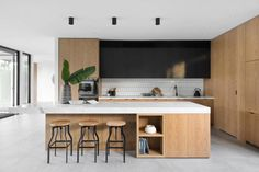 Modern House in Melbourne by Aspect 11 Kitchen Room Design, Best Kitchen Designs, Modern Kitchen Design, Interior Design Kitchen, Kitchen Decor, Classic Kitchen, New Kitchen, Kitchen Jars, Kitchen Dining