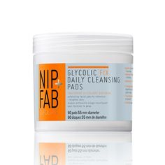 Nip + Fab Glycolic Fix Daily Cleansing Pads Morning exfoliants help nix dead skin cells, dirt, sebum and makeup residue to reveal the healthy, happy, glowing skin underneath. Read on for the best no-rinse exfoliants for your skin. Glycolic Peel, Glycolic Acid, Lactic Acid, Anti Aging Cream, Anti Aging Skin Care, Mac Cosmetics, Exfoliating Products, Chemical Peel, Beauty