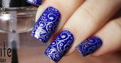 Diseños de uñas de encaje en azul y plata con estampación Blue Nails, Ideas, Lace Nail Design, Classy Nails, Colorful Nails, Nail Designs, Silver, Blue Nail, Thoughts