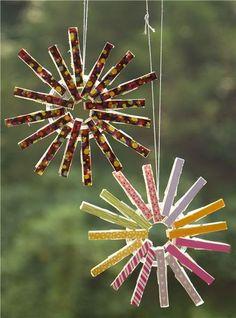 Christmas Clothespin Ornament by modes4u.com #Christmas #crafts #diy