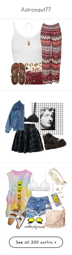 """""""Astronaut💫🚀"""" by skh-siera18 ❤ liked on Polyvore featuring Chanel, Michael Kors, Miss Selfridge, Warehouse, Forever 21, Aéropostale, Chicwish, Dr. Martens, Araks and High Heels Suicide"""