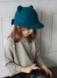Amour Bows Pinna Pine Green Riding Hat – Hello Alyss - Designer Children's Fashion Boutique