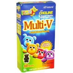 Buy Yum-Vs Multi-V + Multi-Mineral Formula Bears, Milk Chocolate - 60 ea | Support healthy brain function.Support healthy brain function. @SavetheChildren, #childhealthcare