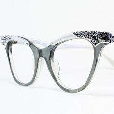 Oakley Sunglasses OFF! Makes me wish I still wore glasses! Vintage Horn Rimmed Glasses by Victory by Vintage Eyewear Cool Glasses, New Glasses, Cat Eye Glasses, Glasses Frames, Sunglasses Outlet, Oakley Sunglasses, Fashion Eye Glasses, Four Eyes, Ray Bans