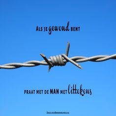 Als je gewond bent praat met de man met littekens. #Jezus https://www.dagelijksebroodkruimels.nl/gewond/