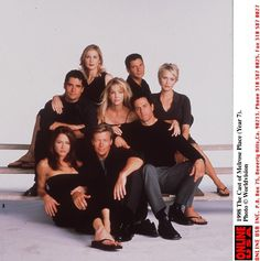 Still of Heather Locklear, Rob Estes, Jamie Luner, Kelly Rutherford, Josie Bissett, John Newton and Jack Wagner in Melrose Place (1992)