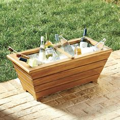 Ballard Designs Farm Trough Beverage Tub ($140) ❤ liked on Polyvore featuring home, kitchen & dining, bar tools and ballard designs