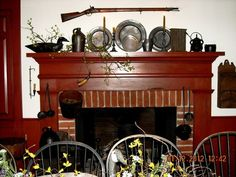 Colonial mantel