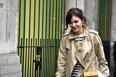 alexa chung / stripes / trench / perfection