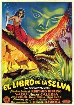 CINE(EDU)-258. El libro de la selva (1942) EEUU. Dir: Zoltan Korda.   O mozo Mowgli, educado polos lobos, preséntase nun pobo de India e é recoñecido por unha muller como o seu fillo perdido. A partir dese momento, deberá aprender os costumes dos homes e mulleres, namorarase dunha bela rapaza e vivirá unha nova vida, aínda que sempre mantendo o seu contacto coa selva. http://kmelot.biblioteca.udc.es/record=b1393944~S1*gag