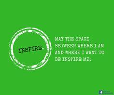 Be inspired.  #Zitat #Motivation #journeyy