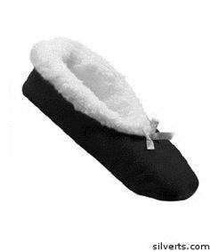 Extra Wide Fleece Slippers For Women - Slip-Resistant Tread #Silverts #Slippers