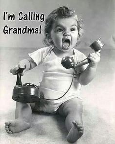 The relationship between Grandparents and Grandchildren is one of the most special in the entire life of us Oldsters ! Call Grandma, Grandma And Grandpa, Funny Babies, Funny Kids, Mom Funny, Funny Stuff, Hilarious, Funny Quotes, Funny Memes