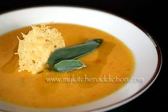 Butternut Squash Soup with Parmesan and Sage   my kitchen addiction