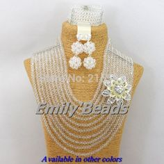 Cheap jewelry fashion, Buy Quality jewelry making supplies wholesale china directly from China jewelry craft Suppliers: 2014 Fashion Nigerian Wedding African Jewelry Set Costume Clear Silver Crystal Beads Bridal Jewelry Sets Free shipping &