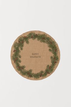 Christmas Tree Mat - Beige/Happy Holidays - Home All H&m Christmas Tree, Christmas 2019, Christmas Shopping, Pine Cone Art, Pine Cones, Gift Card Shop, H&m Home, Beige, Home Gadgets
