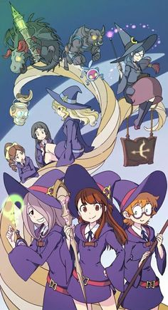 Little Witch Acedemia, Anime Witch Girl, Cartoon Roundup, Anime Girls, Anime… Little Wich Academia, My Little Witch Academia, Little Witch Academia Characters, Anime Witch, Manga Anime, Anime Art, Magical Girl, Animation, Fan Art