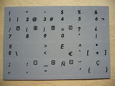 a imagen traduccion pegatinas teclado espanol 14x14 keyboard portatil gris oscuro