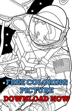 Free Adult Coloring Book Page Out Of This World