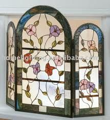 leaded glass fireplace screens. stained glass fireplace screen screens  STAINED GLASS FirePlace