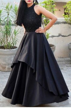Items similar to black embroidery evening gown on Etsy Items similar to black embroidery evening gown on Etsy Radhika Italia Dresses Description Solid black color padded double nbsp hellip before and after women indian Indian Gowns Dresses, Indian Fashion Dresses, Dress Indian Style, Indian Designer Outfits, Evening Dresses, Simple Evening Gown, Designer Gowns, Dress Fashion, Evening Gowns Images