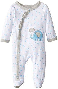 ABSORBA Baby-Boys Newborn Boys Elephant Cotton Footie, Wh... https://www.amazon.com/dp/B00UB1IMYE/ref=cm_sw_r_pi_dp_x_7VJryb0VQV92T