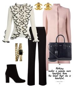 Business chic! by rodanthi888 on Polyvore featuring polyvore, fashion, style, Alexander McQueen, Yves Saint Laurent, Chanel and clothing