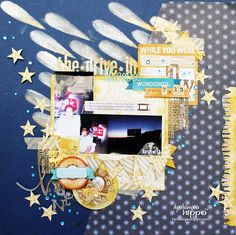 Mixed Media Scrapbook Page I just entered The Craftys! Please come over and vote for my scrapbook page. And don't forget to enter your own creations for a chance to win!!