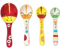 Boston Warehouse Ladybug Garden Measuring Spoon, Set of 4 by Boston Warehouse. $13.12. Made of earthenware. Measuring spoon set. By boston warehouse - creative ideas for home entertaining. Set includes 1/4 teaspoon, 1/2 teaspoon, 1 teaspoon and 1 tablespoon; hand wash recommended. Hand painted design. Why should measuring spoons be boring? Forget about boring with Boston Warehouse's Ladybug Garden Measuring Spoon Set. Set has a whimsical ladybug design and is great for mea...