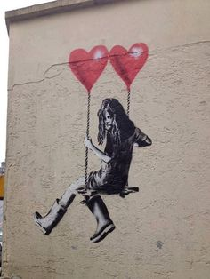 An endearing image from Bristol, UK. And before you ask, no, its not a Banksy! #street art #graffiti