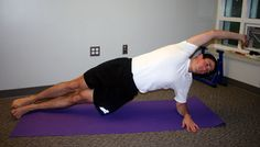 The Transverse Plank:  Repeat for 10 reps and then switch sides (so your left side is on the floor and your right arm is in the air) and repeat for another 10 reps.  Why you should do the Transverse Plank:    This is a great workout for your Transverse abdominus and obliques. Strong obliques improve your stability, so you'll have more control through sharp turns and in twisty singletrack.