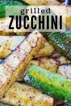 This Grilled Zucchini is an easy way to cook zucchini. It only has 4 ingredients, and it grills up nice and crisp with plenty of flavor. Grilled Squash, Grilled Veggies, Grilled Food, Grilled Pizza, Bbq Appetizers, Appetizer Recipes, Zucchini Appetizers, Grilled Zucchini Recipes, Grilling Recipes