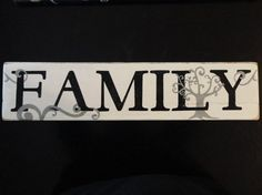 Hand Painted Wood Family Sign via Etsy