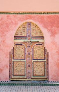 Oh how I miss you Morocco. Morocco, Marrakesh, Decorated Arched Door Stock Photos / Pictures / Photography / Royalty Free Images at Inmagine Berber, Doorway, Islamic Art, Oh The Places You'll Go, Windows And Doors, Monuments, Beautiful Places, Around The Worlds, Colours